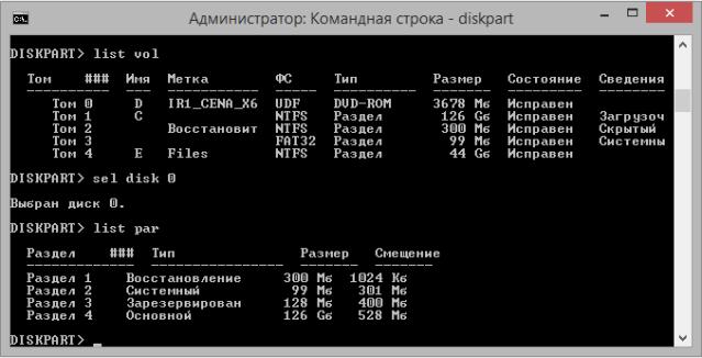 Создание структуры разделов в разметке GPT на ПК с UEFI